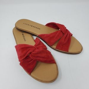 Lucky Brand Dezzee Leather Open Toe Casual